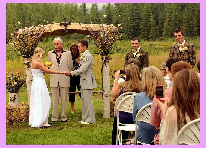 Деревенская кантри свадьба