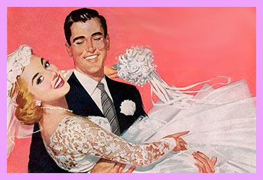 Жених держит невесту на руках