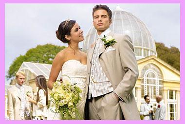 Жених и невеста в айвори тонах