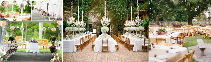 Свадебный декор на природе