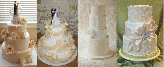 Свадебные торты айвори тона