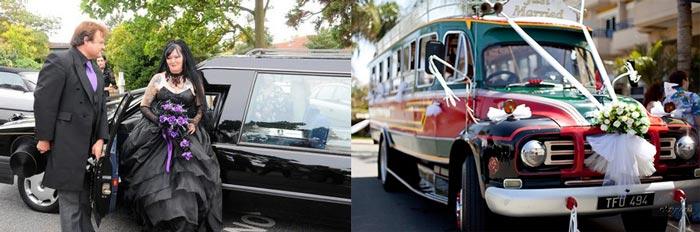 Свадебные авто в готическом стиле