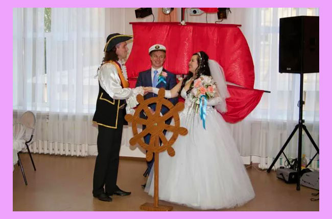 Свадебный декор в стиле алые паруса