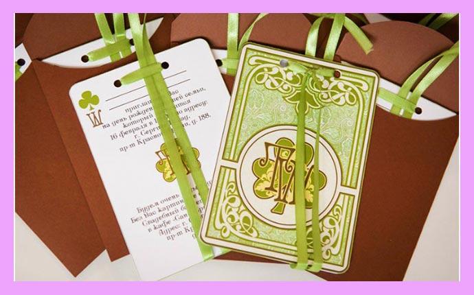Приглашения на свадьбу в ирланском стиле