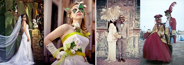 Образы жениха и невесты карнавальный стиль