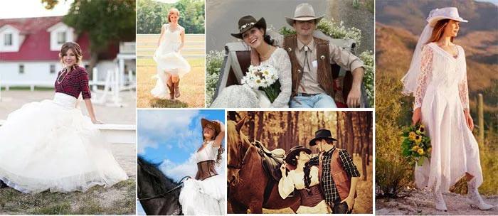 Свадебные образы в ковбойском стиле