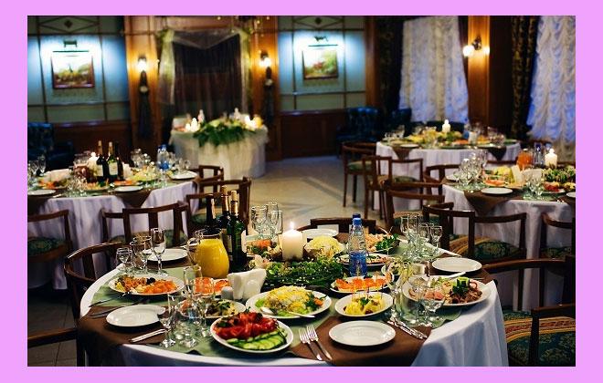 Столы и меню на свадьбу