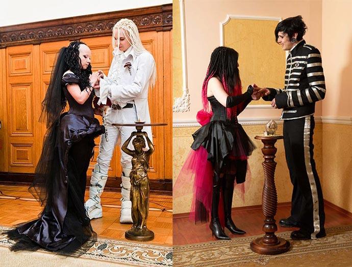 Образы для готической свадьбы