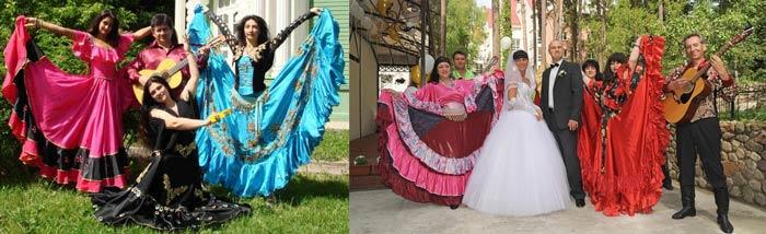 Свадебные цыганские наряды