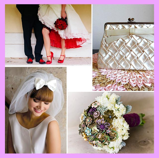 Атрибуты ретро невесты