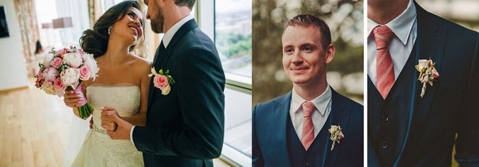 Жених на пионовую свадьбу