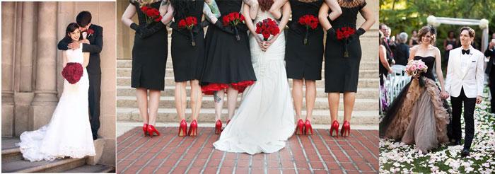 Наряды невесты в черном