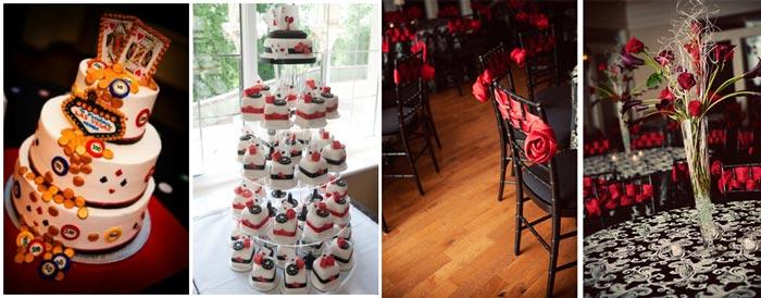Декор свадьбы в стиле лас Вегас