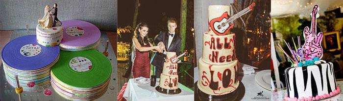 Свадебные рок-н-ролл торты