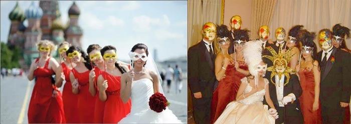 Свадебная фотоссесия карнавальная