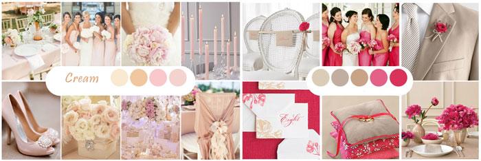 Схемы цветовые для свадьбы