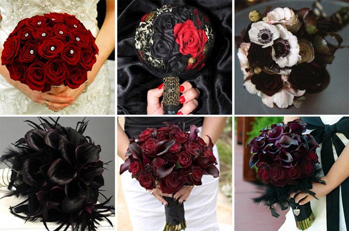 букеты и цветы в готическом стиле