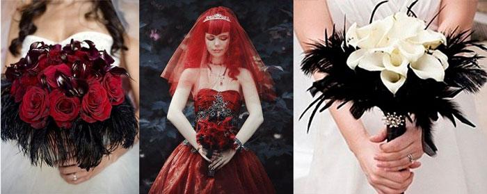 Букеты невесты готика