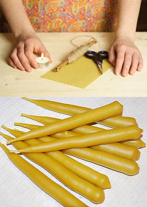 Подготовка к лепке свечек из воска