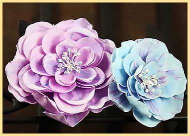 Цветки из ткани