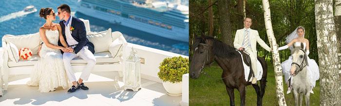 Молодожены на лошадях и на курорте