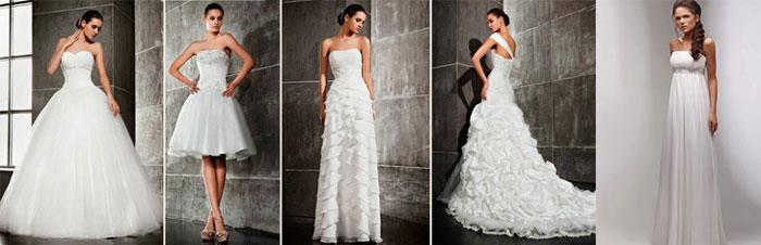 Разновидности свадебных платьев