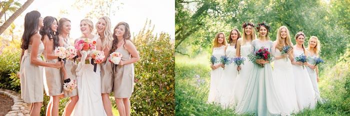 Наряды невесты и подруг