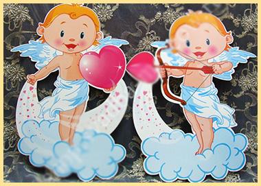 Свадебный плакат с ангелочками