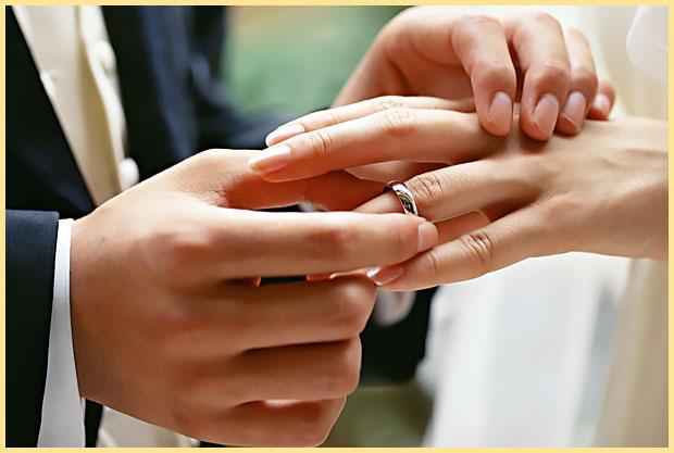 Обряд надевания обручального кольца