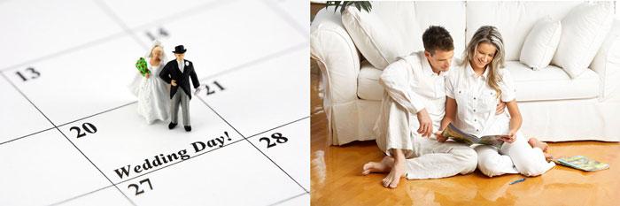 Свадьба, календарь и обсуждение молодоженами
