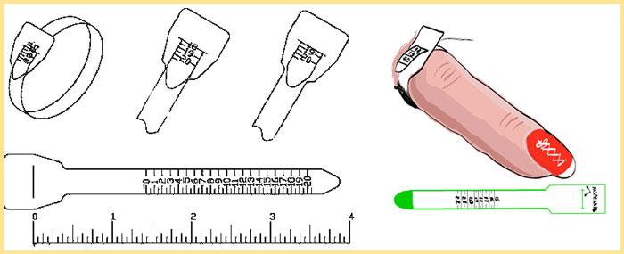Измерение диаметра пальца бумажкой