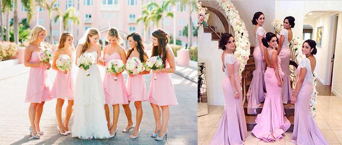 Невеста и нарядные подруги