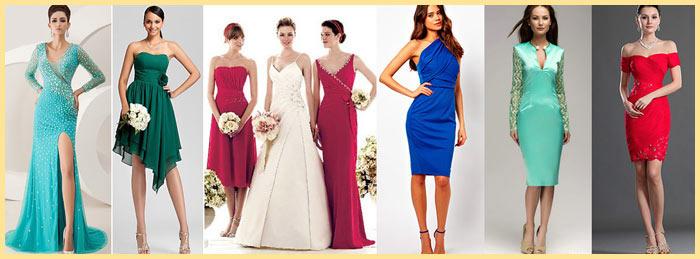 Длинные и короткие платья для невесты и подруг