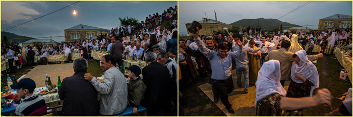 Торжество и танцы на дагестанской свадьбе