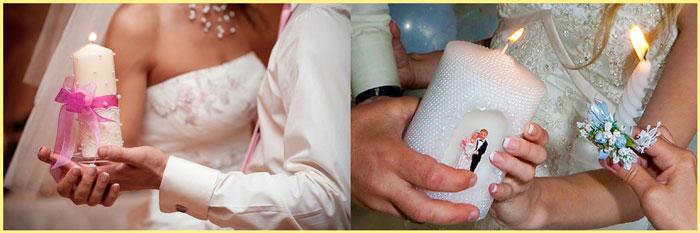 Варианты зажжения семейного очага на свадьбе