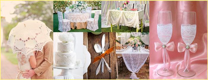 Декор свадьбы в кружевном стиле