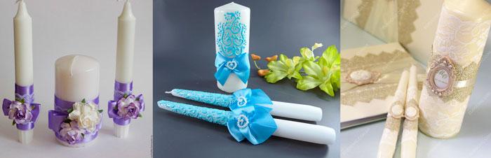 Свечи для семейного очага на свадьбу