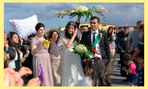 Подушка невесты на езидской свадьбе