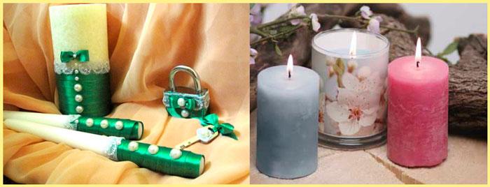 Свадебные свечи горят и хранятся