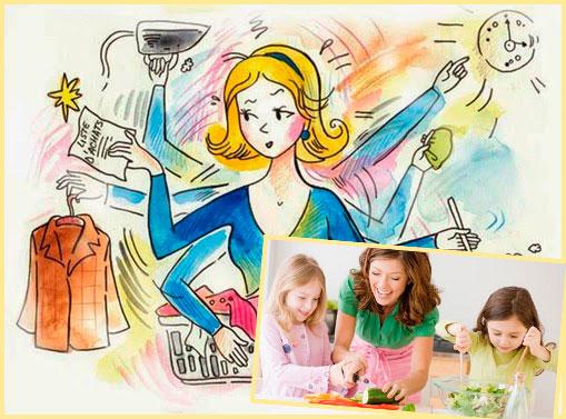 Женщина хозяйка и мама обязанности жены