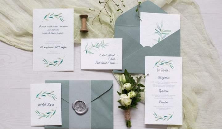 Набор свадебной полиграфии