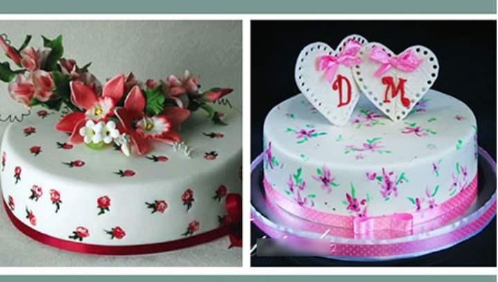 2 торта для ситцевой свадьбы