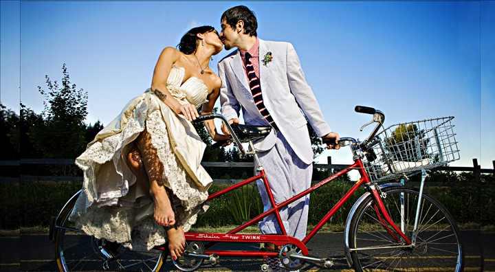 Свадьбы на велосипедах