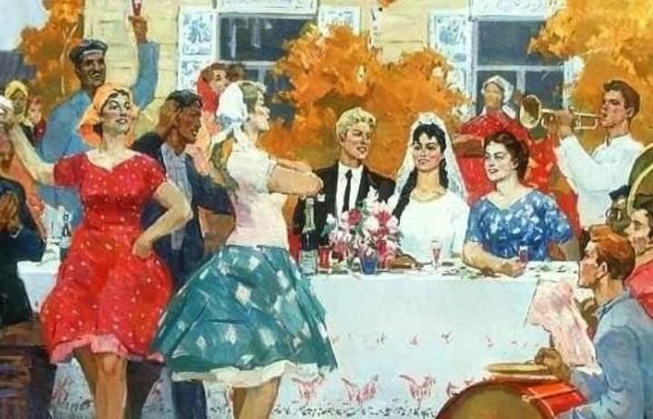 Картина про свадебные частушки