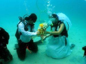 Зачастую для организации такой свадьбы молодожены выбирают острова