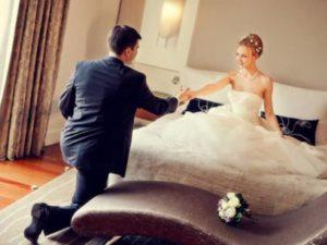 Наиболее приемлемым считается проведение брачной ночи в гостинице