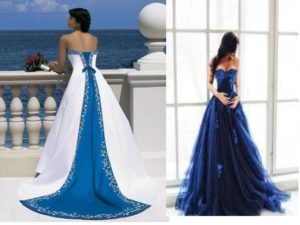 Платья греческого стиля, «русалка», со шлейфом – именно в этом цвете великолепны.