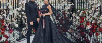 На торжественном банкете невеста сменила наряд на платье Dior