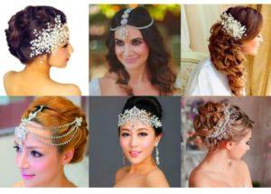 Для причесок невест с распущенными либо собранными волосами