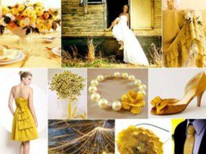 оформленные в серо-желтых тонах – выбор стильных и современных молодоженов